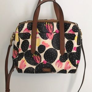 Floral Fossil Purse